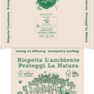 "SCATOLA PIZZA ECO 300x300 - SCATOLA PIZZA ""LOVE NATURE"" CARTONCINO ECO RECYCLED cm. 33 x 33<br> <br>N° 100 pz."