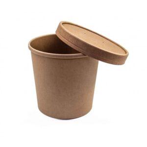contenitori zuppa asporto 300x300 - CARTONCINO FSC - BARATTOLO CALDO / FREDDO 750 ML. <br> <br>N° 100 PZ.