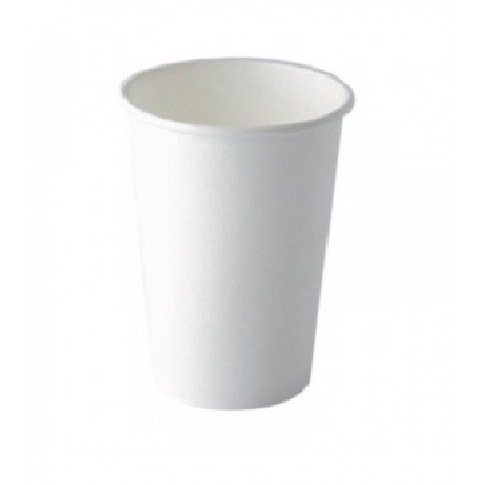 bicchiere in cartone bianco 330ml o80mm h89mm 1 - CARTONCINO - BICCHIERE 350 ML. <br> <br>N° 100 PZ.