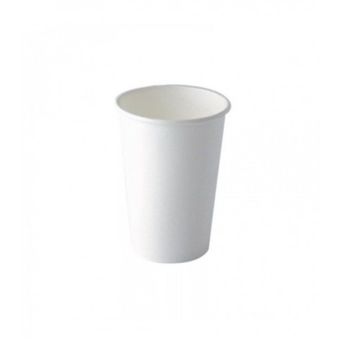 bicchiere in cartone bianco 330ml o80mm h89mm - CARTONCINO - BICCHIERE 250 ML. <br> <br>N° 500 PZ.